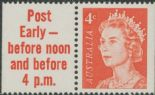 AUS SG385 4c Queen Elizabeth II tab pair helecon paper - Post Early